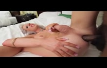 Horny tranny fucked by BBC