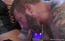 Troublemaker anal fucked by TS bar owner