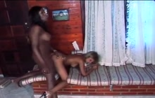 Sexy GF fucking with a black shemale