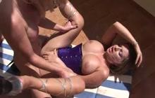 Blonde shemale fucks big tit girl